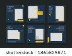 6 editable square banner layout ... | Shutterstock .eps vector #1865829871