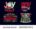 set with hand lettering quotes... | Shutterstock .eps vector #1865832451