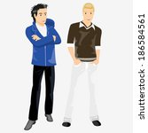 young boys | Shutterstock .eps vector #186584561