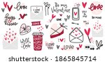 valentines day clipart with... | Shutterstock .eps vector #1865845714
