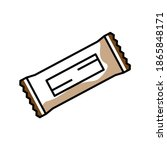 chocolate bar color icon.... | Shutterstock .eps vector #1865848171