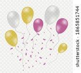 vector festive balloons... | Shutterstock .eps vector #1865851744