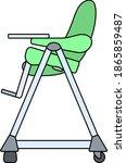 baby high chair icon. editable...