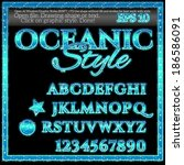 oceanic graphic style for... | Shutterstock .eps vector #186586091