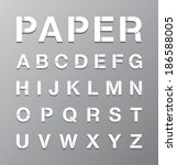 paper alphabet text | Shutterstock .eps vector #186588005