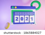 2021 ui calendar 3d with...