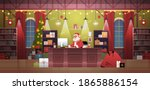 santa claus sitting at... | Shutterstock .eps vector #1865886154