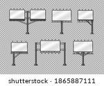 set of billboardson transparent ... | Shutterstock .eps vector #1865887111