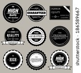 collection of premium and high... | Shutterstock .eps vector #186589667