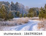 Amazing Winter Landscape With A ...