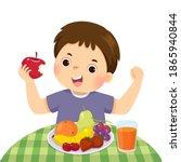 vector illustration cartoon of...   Shutterstock .eps vector #1865940844