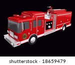 fire truck on a black background | Shutterstock . vector #18659479