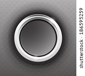 gray button with a steel ring   Shutterstock .eps vector #186595259