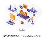 devops isometric web banner.... | Shutterstock .eps vector #1865992771