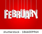 February Word Hanging On The...