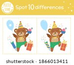 birthday party find differences ... | Shutterstock .eps vector #1866013411