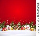 christmas green fir branches ...   Shutterstock .eps vector #1866018601