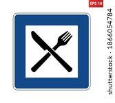 motorway restaurant road sign....   Shutterstock .eps vector #1866054784