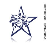 Jockey On Horse. Logo. Star....