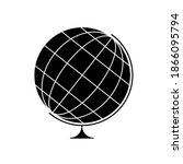 earth globe with black and... | Shutterstock .eps vector #1866095794