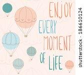cute hand drawn inspirational...   Shutterstock .eps vector #186610124