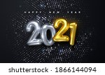 happy new 2021 year. holiday... | Shutterstock .eps vector #1866144094