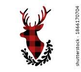 Christmas Silhouette Of Deer...