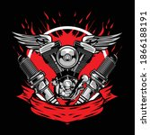motorcycle part logo available... | Shutterstock .eps vector #1866188191