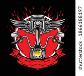 motorcycle part logo available... | Shutterstock .eps vector #1866188197