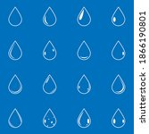 vector outline water drop icon... | Shutterstock .eps vector #1866190801