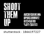 distressed condensed  bold... | Shutterstock .eps vector #1866197227