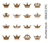 crown collection | Shutterstock .eps vector #186621191