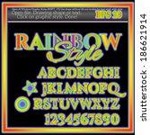 rainbow graphic style | Shutterstock .eps vector #186621914