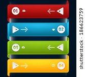 modern business origami style... | Shutterstock .eps vector #186623759