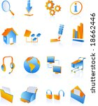 vector clip art icons and... | Shutterstock .eps vector #18662446