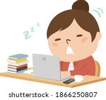an illustration of a young girl ...   Shutterstock .eps vector #1866250807