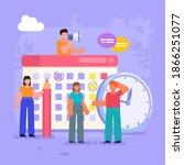 time management  work planner ... | Shutterstock .eps vector #1866251077