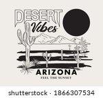 Desert Vibes Arizona Vector...