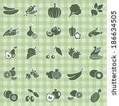 vector collection of fruits and ... | Shutterstock .eps vector #186634505