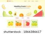 healthy fresh fruits concept... | Shutterstock .eps vector #1866386617