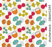 colorful seamless pattern with... | Shutterstock .eps vector #186641345