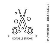 forceps linear icon. handheld ...   Shutterstock .eps vector #1866433177