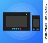 two video call windows for...