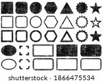 stamps frames vector icon shape ... | Shutterstock .eps vector #1866475534