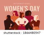 international women's day card... | Shutterstock .eps vector #1866480547