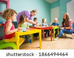 the preschool students with a... | Shutterstock . vector #1866494464