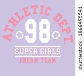 athletic dept. slogan vector... | Shutterstock .eps vector #1866495541