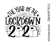the year of the lockdown 2020   ... | Shutterstock .eps vector #1866497611