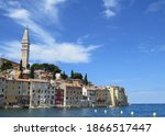 View Of Rovinj Old Town With...