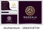 modern elegant mandala flower... | Shutterstock .eps vector #1866518734